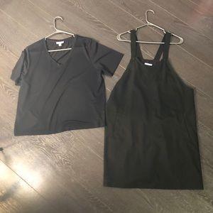 Bundle of Frank and Oak V neck Tee & Overall dress